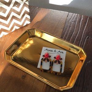 Tortoise Jeweled Earrings